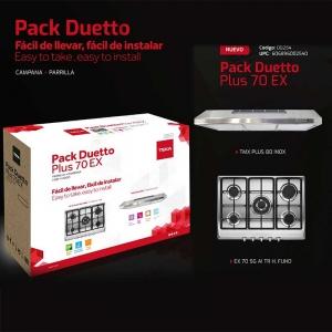 Paquete Pack Duetto Plus EX 70 (Parrilla y campana) Código 00254
