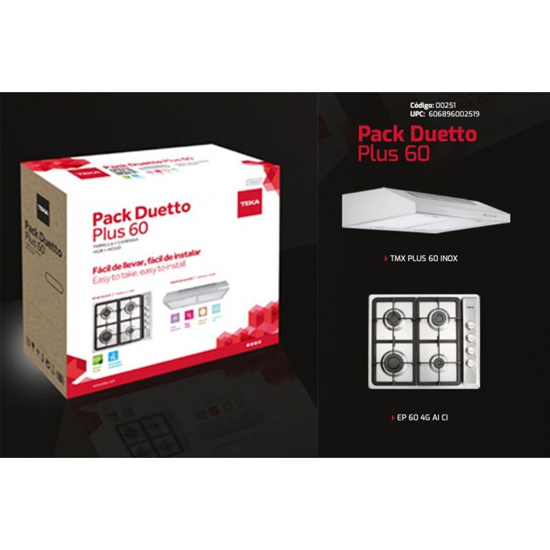 Paquete Pack Duetto Plus 60 (Parilla y campana) Código 00251