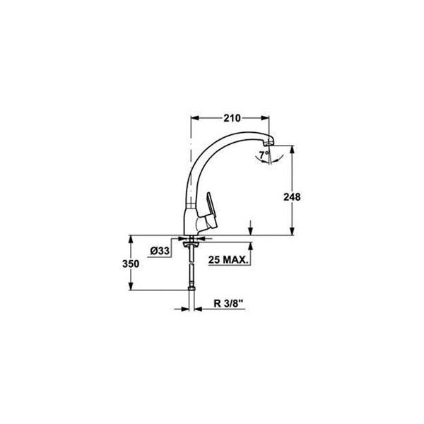 Llave Monomando para Cocina MF2 Project Alto CODIGO 81.9114.62