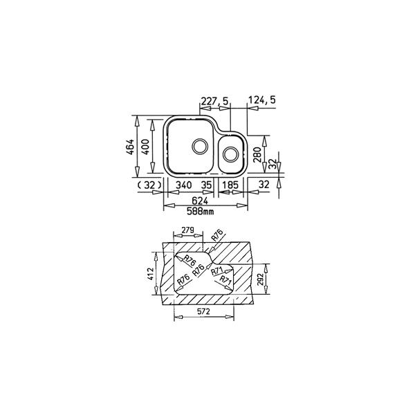 fregaderos Submontar - TEKA BE 79.43 (TU 31.19) CODIGO 10125114