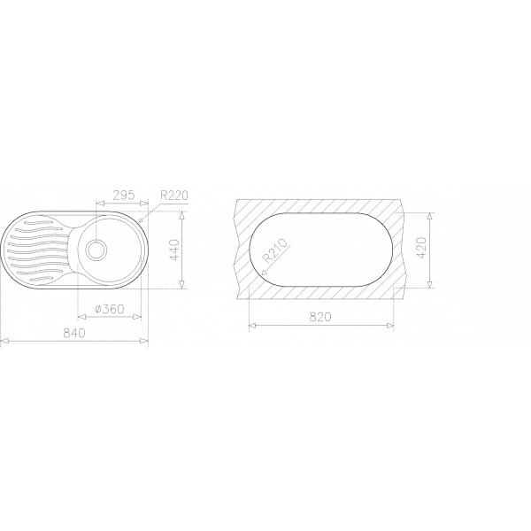 Fregaderos Empotrar - TEKA DR 80 1C 1E I/D CODIGO 10110003