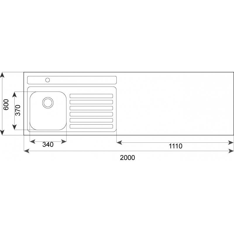 Fregaderos Submontar - TEKA Combinación 200.60 1C 1E S/Hueco CODIGO 10304027