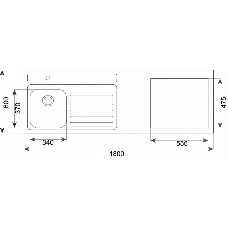Fregaderos Submontar - TEKA Combinación 180.60 1C 1E C/Hueco CODIGO 10304029