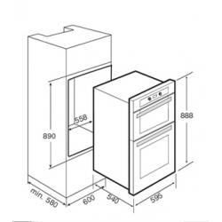 Horno electrico teka dha 888 inox acero inoxidable codigo for Medidas de hornos electricos